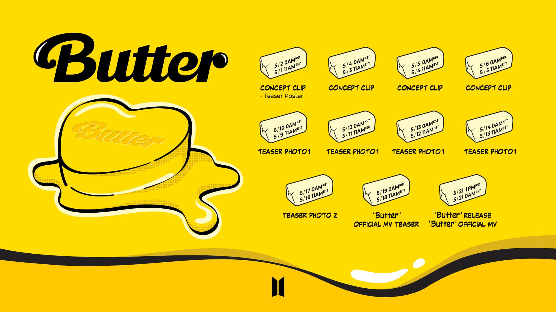 """BTS Reveals Promotion Schedule For Upcoming Single """"Butter ..."""