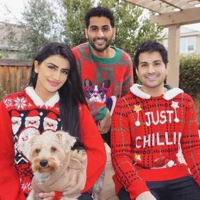 Puneet Kaur with her brothers