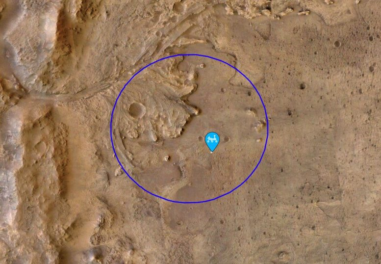 Perseverance Mars Rover First example location