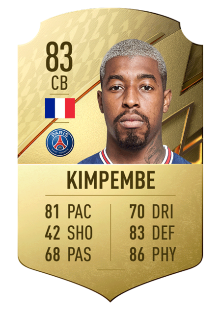 Kimpembe best players ligue 1 fifa 22